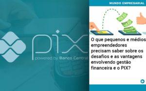 O Que Pequenos E Médios Empreendedores Precisam Saber Sobre Os Desafios E As Vantagens Envolvendo Gestão Financeira E O Pix Abrir Empresa Simples - Contabilidade em Vitória da Conquista - BA   Nord Contabilidade